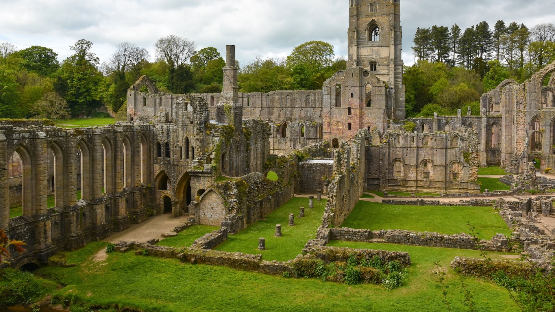 Ruines Fountains Abbey - Angleterre