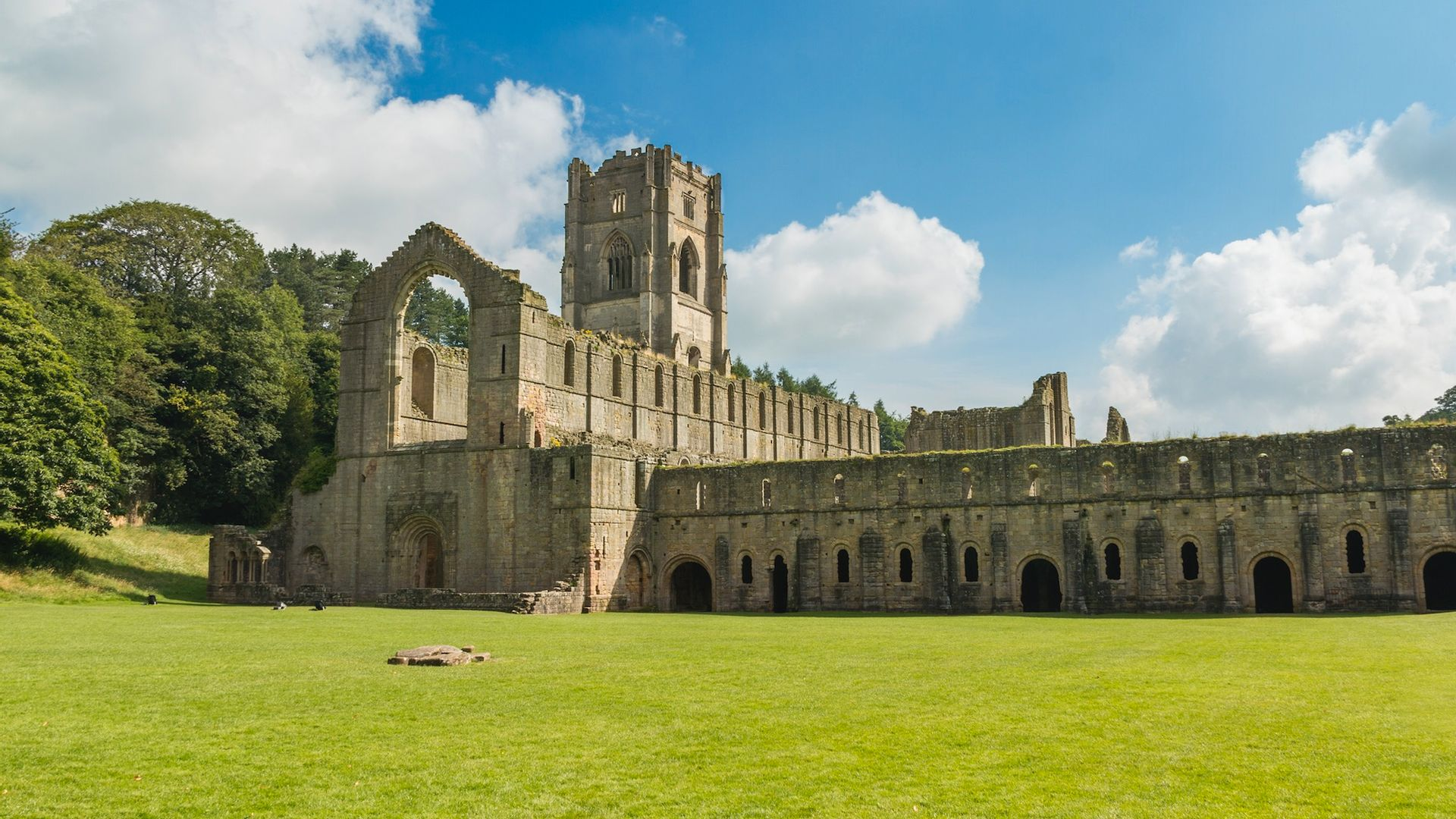 Vue Fountains Abbey - Angleterre