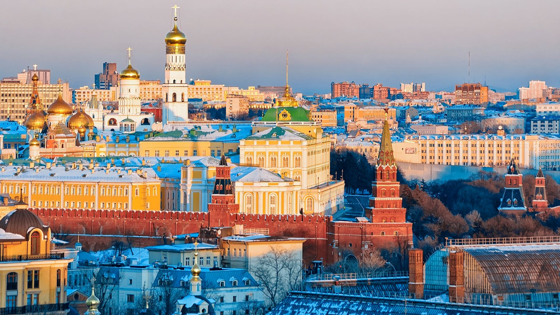 Panorama en hiver, Moscou - Russie