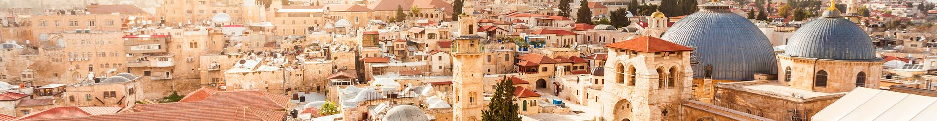 Old City Jerusalem from above. Church of the Holy Sepulchre©iStock-seregalsv-613303216.jpg