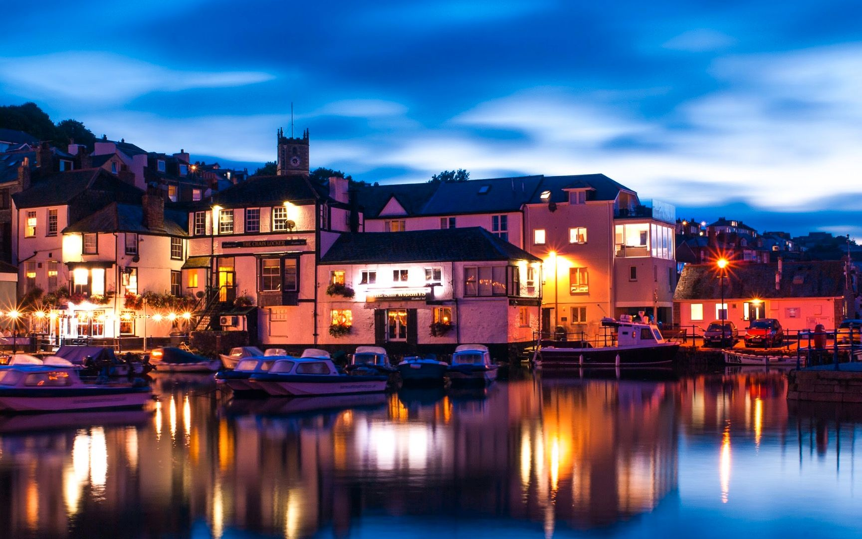 Nuit, Falmouth - Angleterre