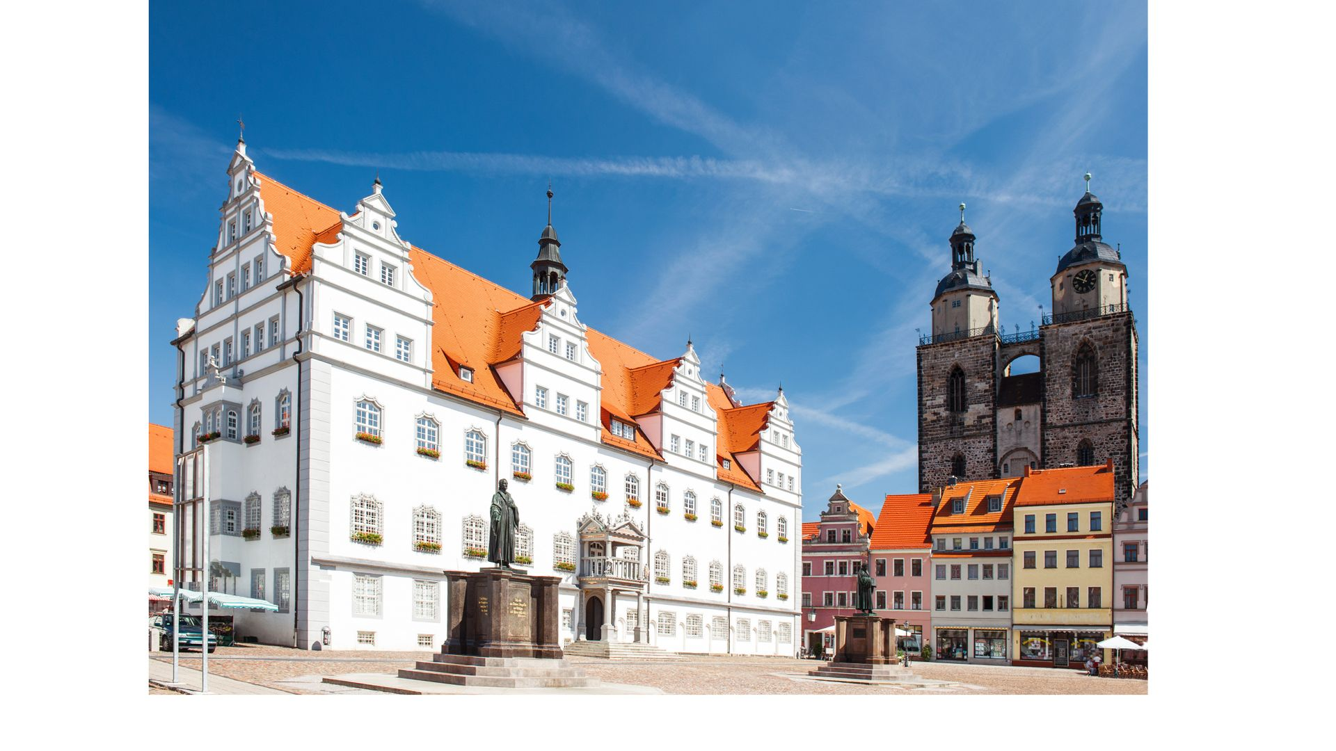 Monument de Martin Luther, square à Wittenberg - Allemagne ©iStock