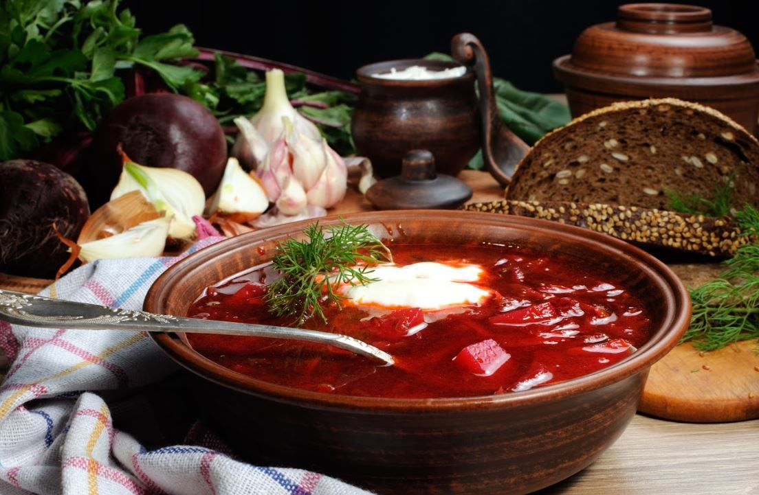 Borsch traditionnel russe, Moscou - Russie