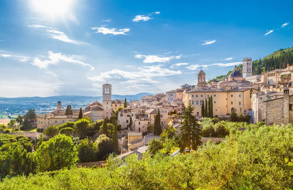 Panorama d'Assise, Ombrie - Italie